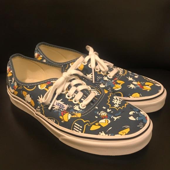 a3e48805b0 Vans Men s Donald Duck Disney Authentic Shoes Sz 8.  M 5c37ec8bbb7615a503e2c6f2